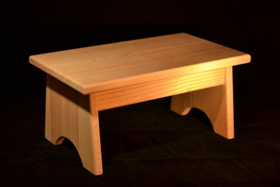 Wood Step Stool Unfinished Pine 16 L X 9 W X 7 5 H Pawpaw In 2019 Wood Steps Wood Stool Wooden Steps