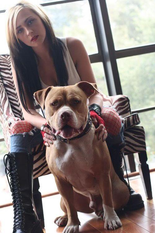 Me With Blonde And Black Hair Pitbulls Pit Bulls Parolees Villalobos Rescue Center