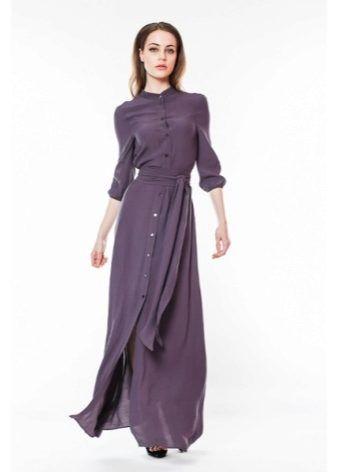Длинное платье-рубашка 2017 (53 фото)  в пол, макси, в полоску, в ... 38a3b2cf328