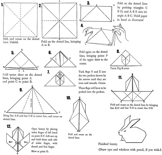 Artistshelpingchildrenorg Crafts Images Origami Bunny Rabbit