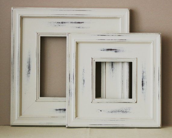 Best Sizes 12X16 To 16X20 Wood Picture Frame Vintage White 400 x 300