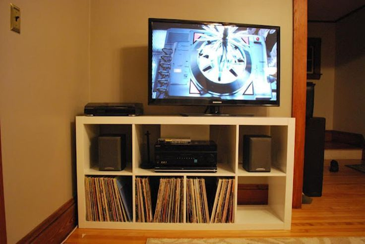 Ikea Kallax Expedit Turntable Audio Storage Hacks Hifi Kallax