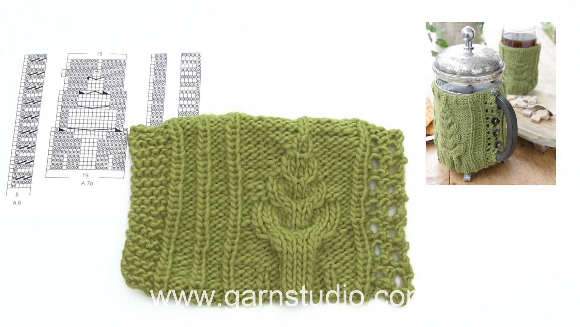 How to knit the cover with cables in DROPS Extra 0-1402 | Knit ...