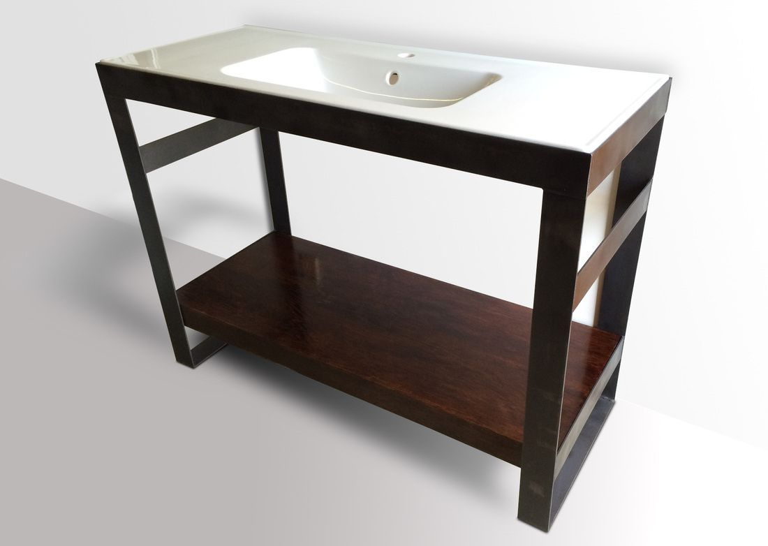 Denver Colorado industrial modern bathroom vanity ...