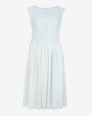 Embellished lace bodice dress