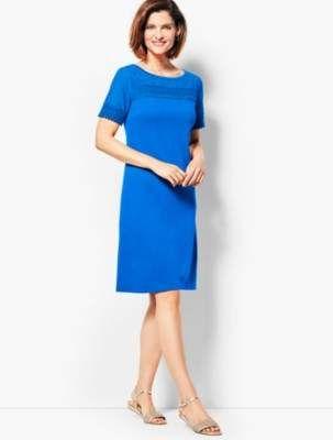 eed075b5f0d Lace-Trimmed Interlock Shift Dress
