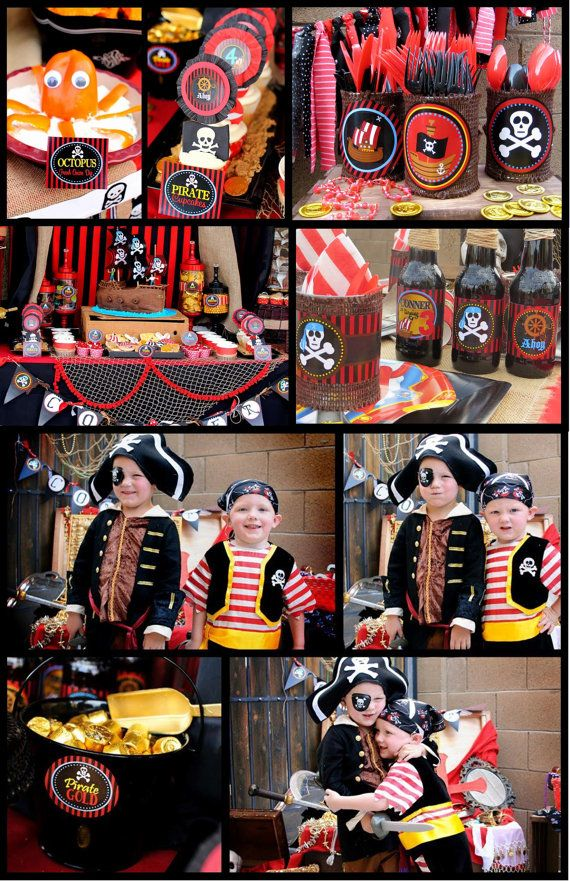 Pirate Birthday Party Complete Pirate Party by KROWNKREATIONS