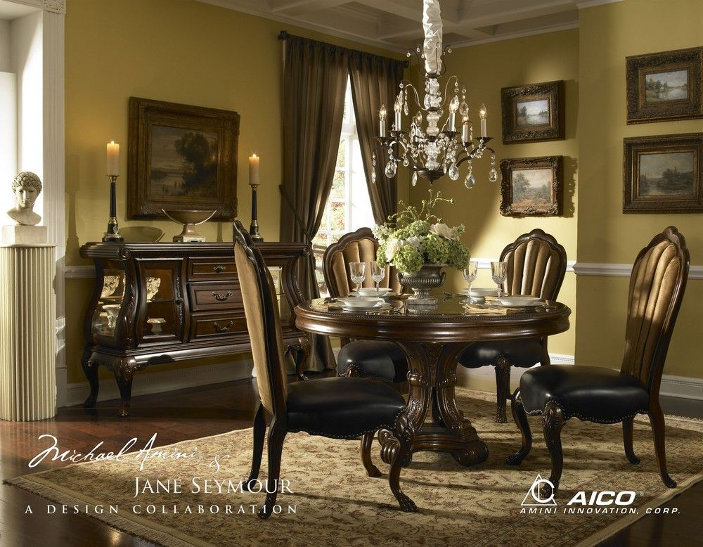 Michael Amini | Furniture | Pinterest | Round dining room sets ...