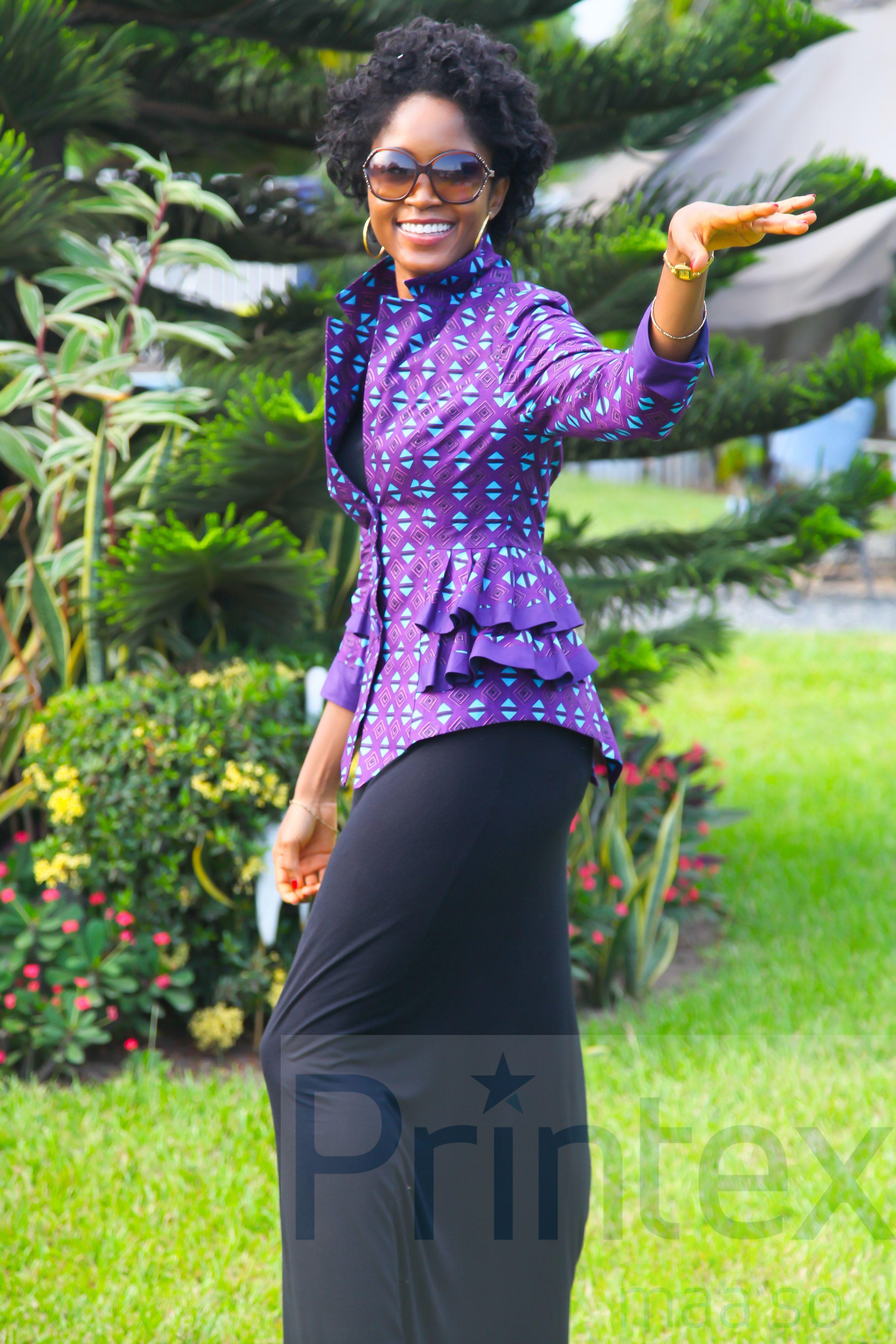New African print from Printex Ghana Ltd Model: Muriel