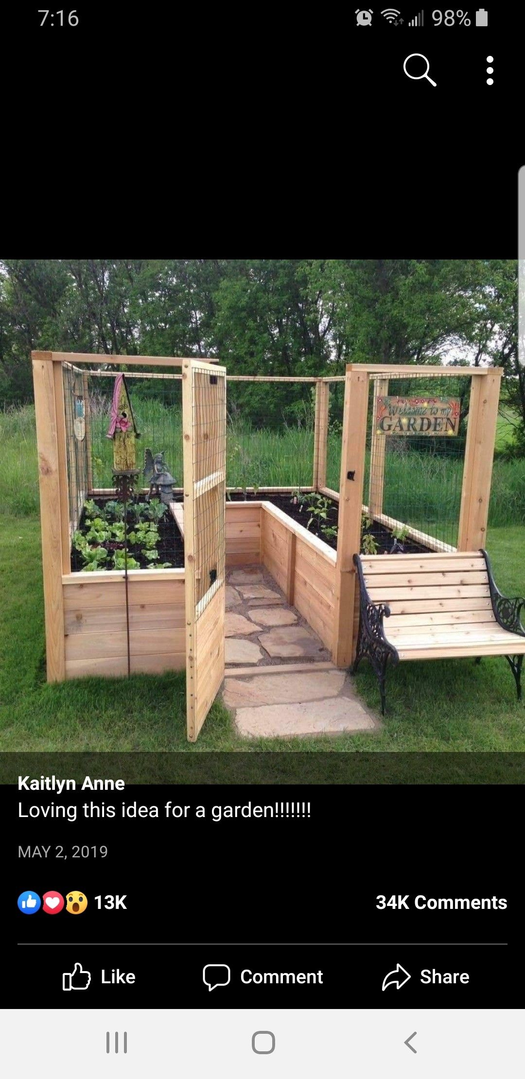 Pin By Sherry Hulbert On Home Decor Diy Raised Garden Small Space Gardening Raised Garden Bed Plans