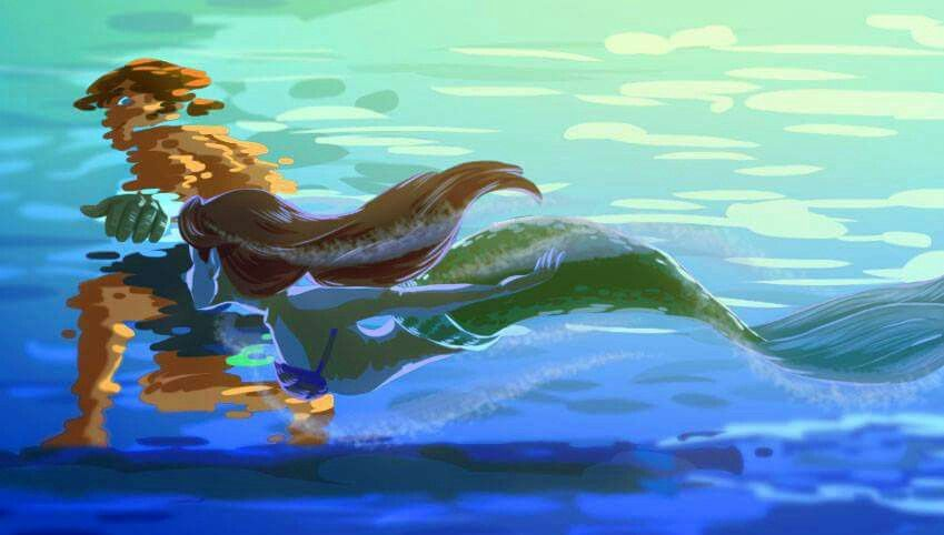 Ariel and Jim ❤❤❤ Best of Disney Art by Iesnoth