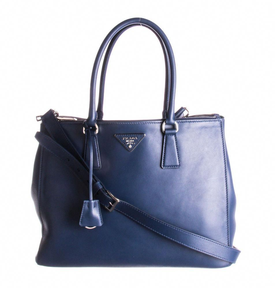 4a05afdfe65f PRADA Blue Leather Double Zip Galleria Tote Bag  fashion  clothing  shoes   accessories  womensbagshandbags (ebay link)  Pradahandbags