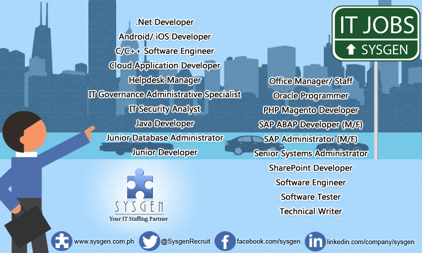 Looking for a career in IT? SYSGEN is the right place to go. We\'re ...