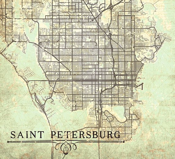 Saint petersburg canvas print florida fl vintage map st vintage saint petersburg canvas print florida fl vintage map st petersburg fl city map florida vintage art poster retro old gift home office decor gumiabroncs