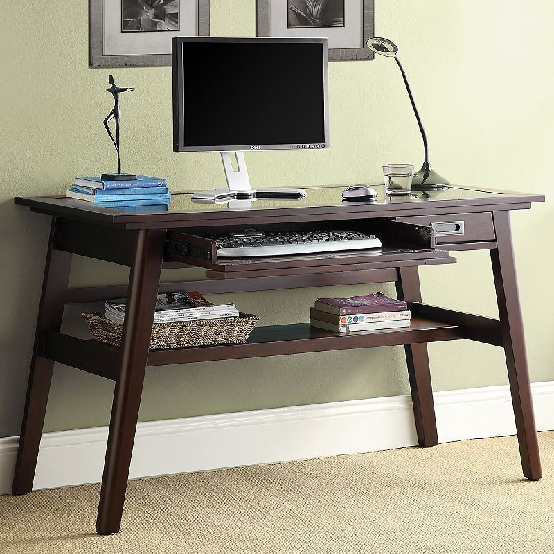 Inspired By Bassett Evans Writing Desk Brown Meja