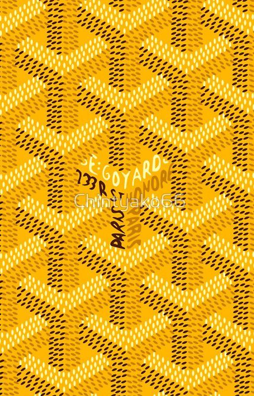 Yellow Goyard Pattern Goyard pattern