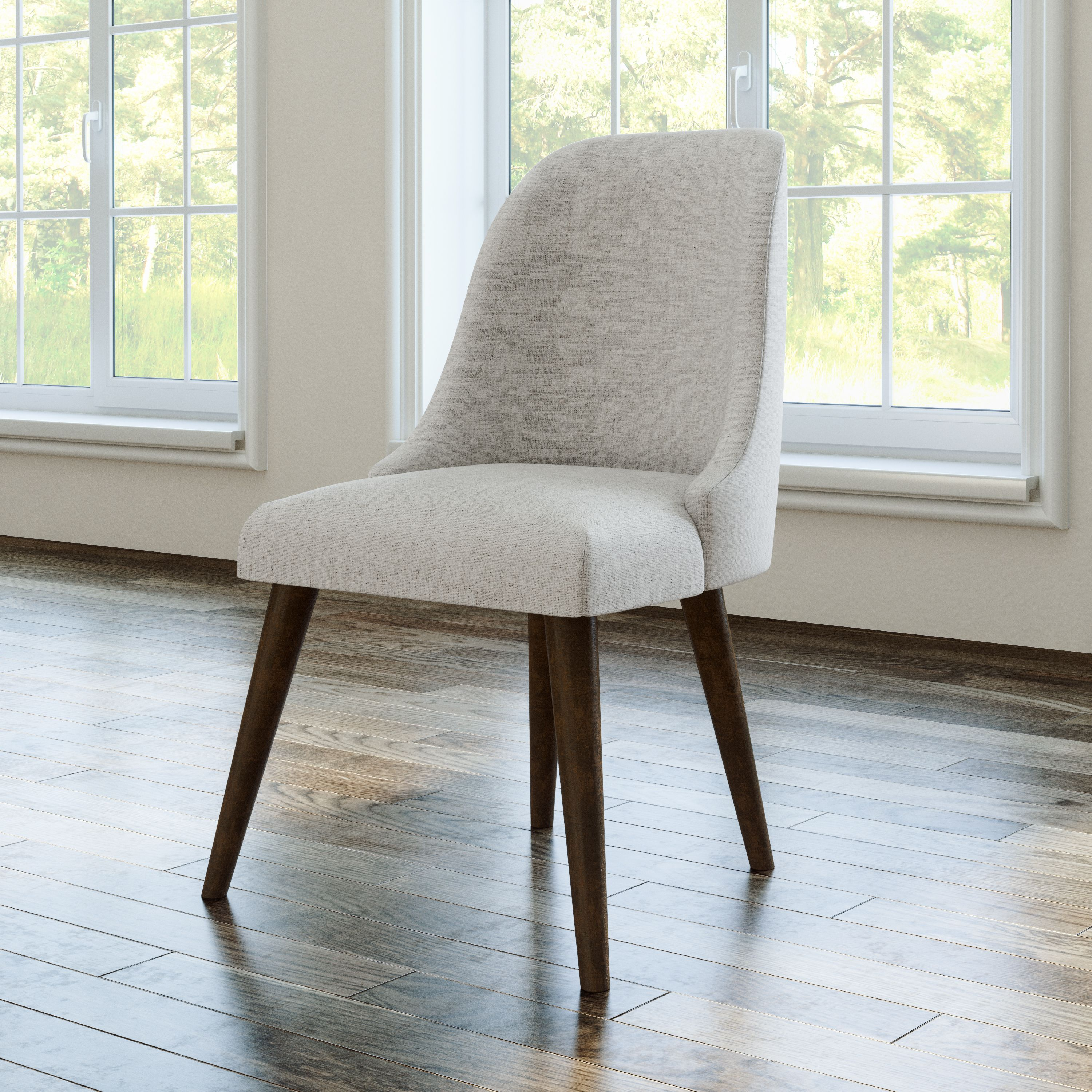 Devon claire talia upholstered mid century dining chair