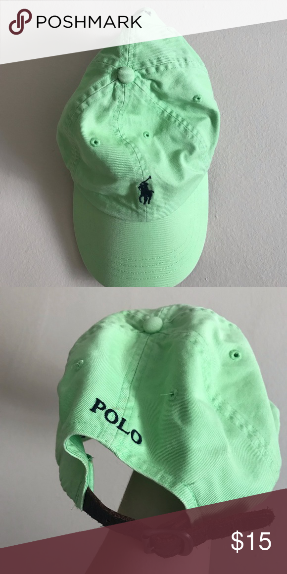9d9aeff505 lime green POLO hat POLO hat I wore only a few times! Subdued lime green  color is perfect for summer. Polo by Ralph Lauren Other