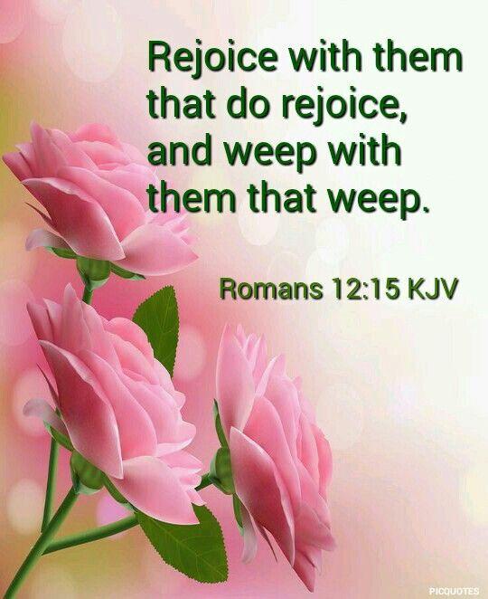 Romans 12:15 KJV   Bíblicos