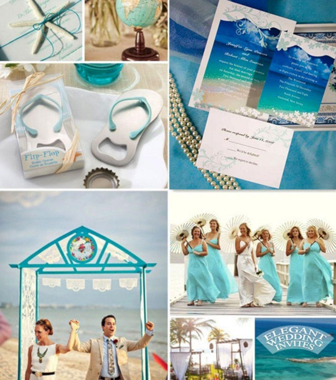 Teal beach wedding   Interesting and Fun Beach Wedding Ideas For   Beach