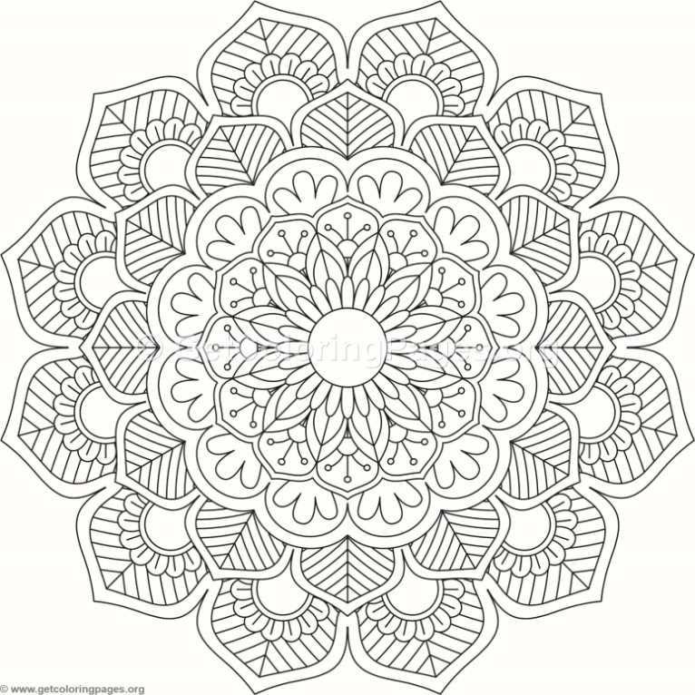 Tribal Mandala Coloring Pages 312 Coloring Pages