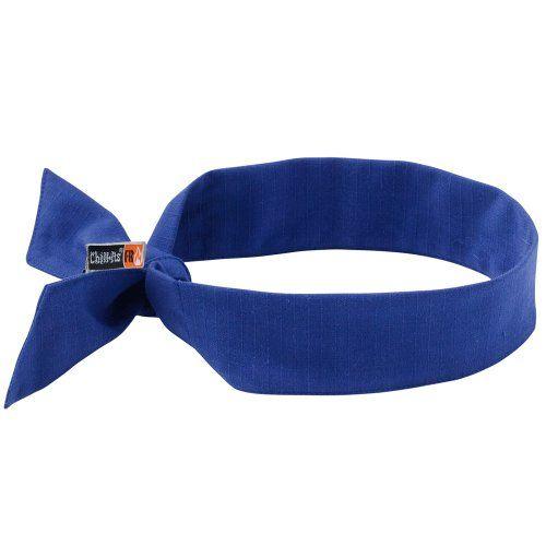Chillits Fire Resistant Fr Cooling Neck Bandanaheadband Blue 2