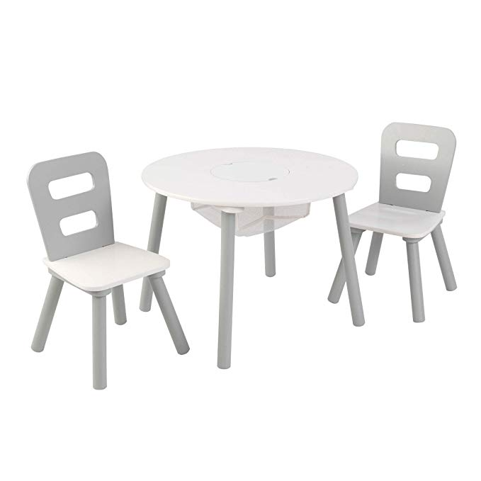 Amazon Com Kidkraft 26166 Round Table And Chair Set White Gray Toys Games Round Table And Chairs Kids Table Chair Set Table And Chair Sets Kidkraft table and chairs white