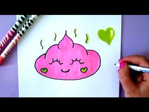 Kawaii Kackhaufen Emoji Selber Malen Youtube Cards Rose