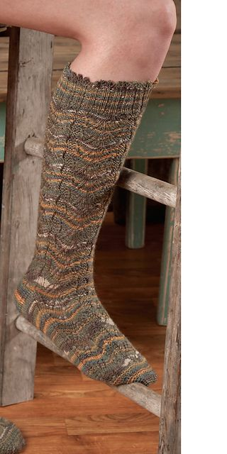 airy mountain by barb brown; in zitron trekking pro natura; fingering, 4 ply