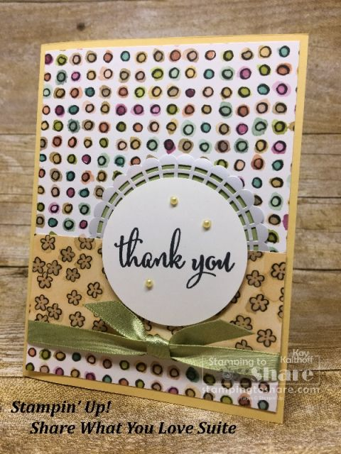 Stampin Up Share What You Love On So Saffron Created By Kay Kalthoff For Stampingtoshare