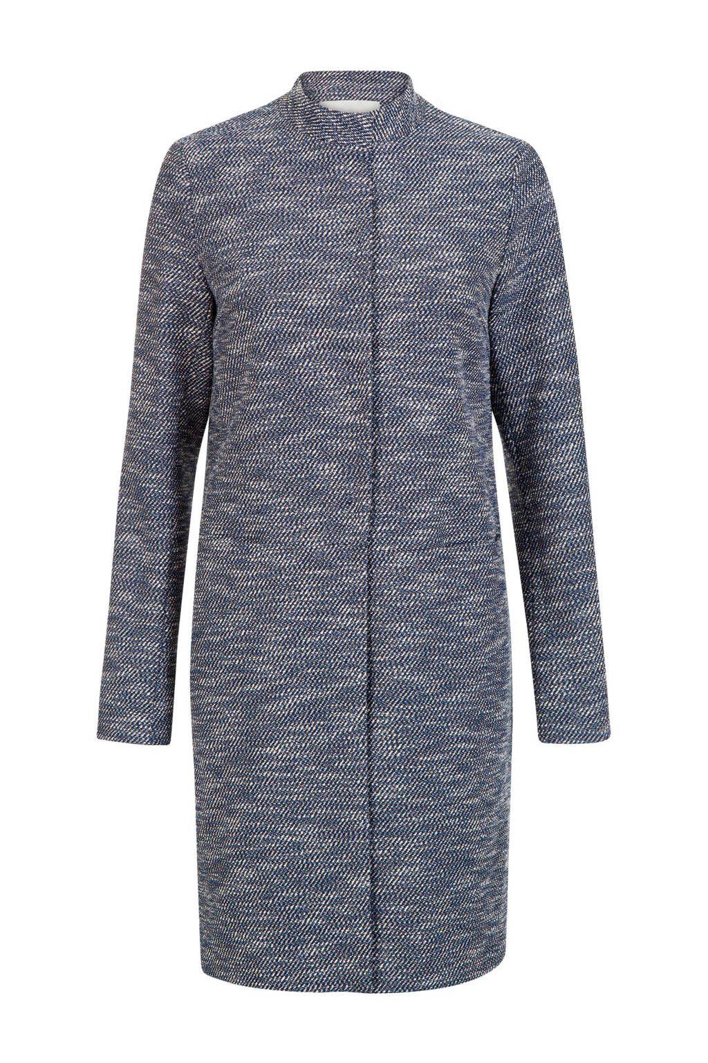 Gemêleerde coat blauw (met afbeeldingen)   Zakelijke outfits
