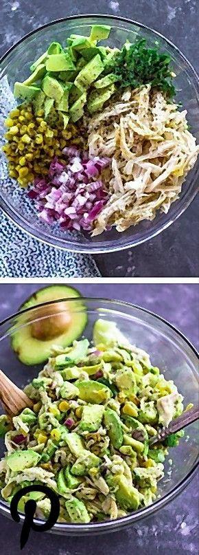 Healthy Avocado Chicken Salad Omit the corn or use a small amount Healthy Avocado Chicken Salad Omit the corn or use a small amount