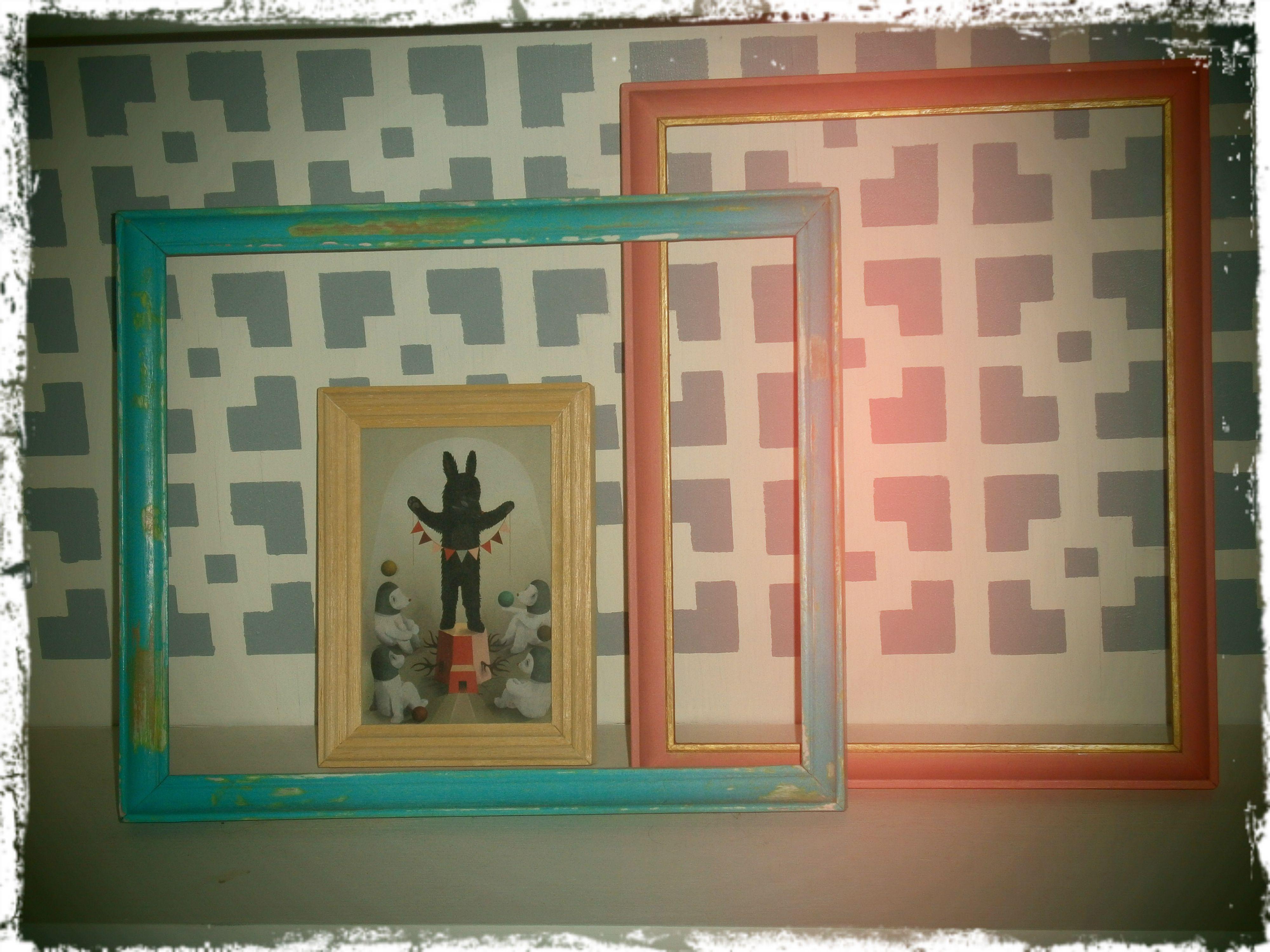 DIY frames Marcos intervenidos