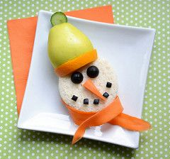 Cute Lunch Idea: Frosty the Sandwich