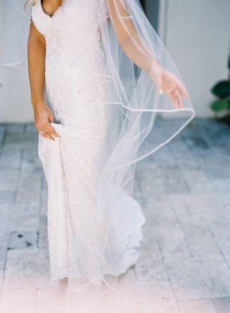Wedding Dress, Pnina Tornai; Venue, Fisher Island Club; Photo: Kat ...