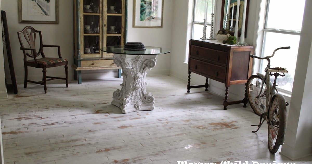 Distressed White Washed Wood Floors Diy Finished With Hemp Seed Oil