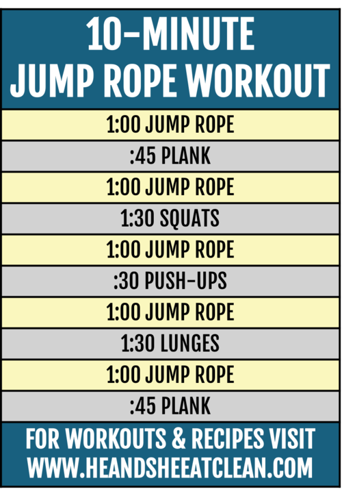 10 Minute Jump Rope Workout Jump Workout Jump Rope Workout Jump Rope