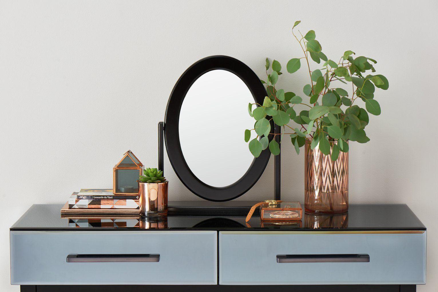 Argos Home Oval Dressing Table Mirror Black Argos Black Dressing Home Mirror Oval Table In 2020 Mirror Table Argos Home Dressing Table Mirror