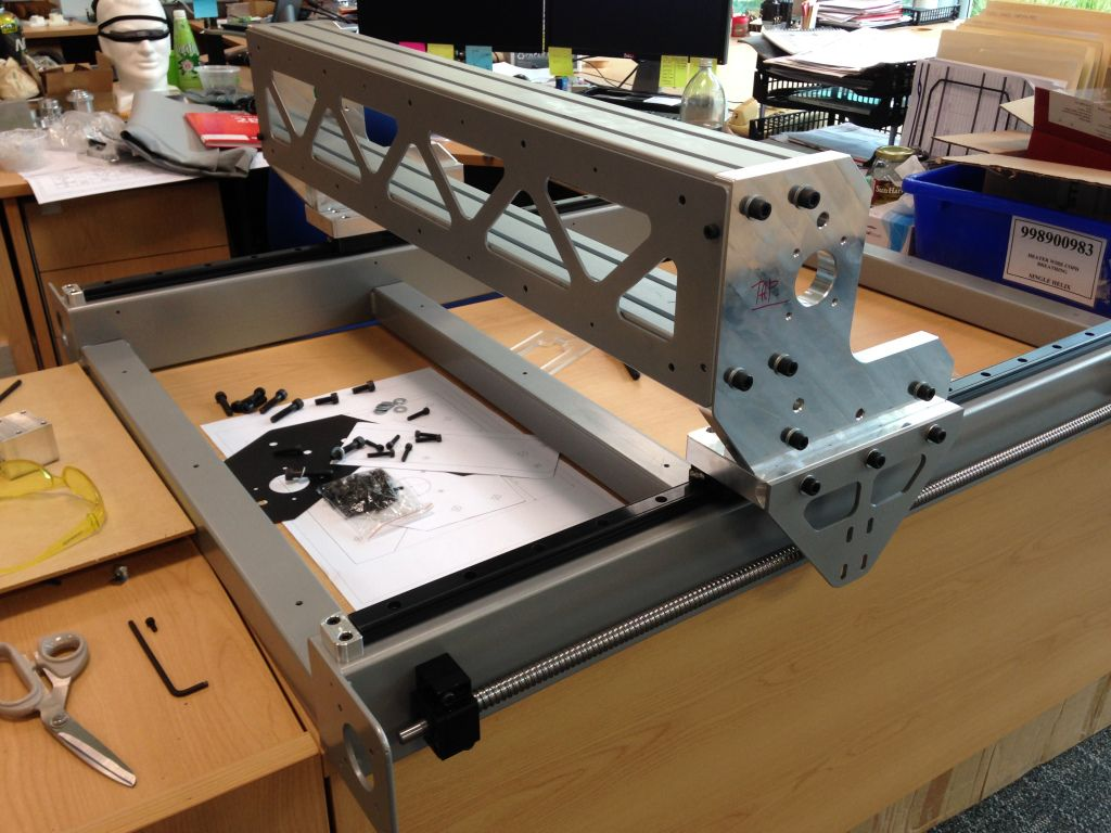 DIY CNC Router Component Machining & Gantry Assembly