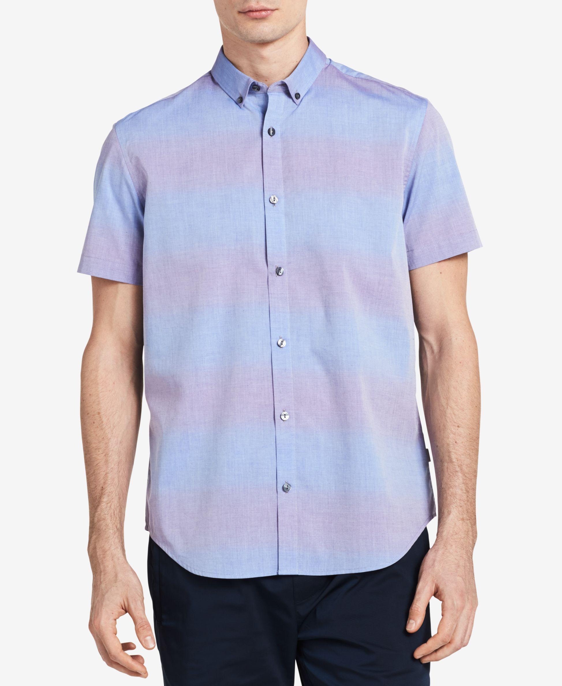 Calvin Klein Men's Shaded Stripe Shirt