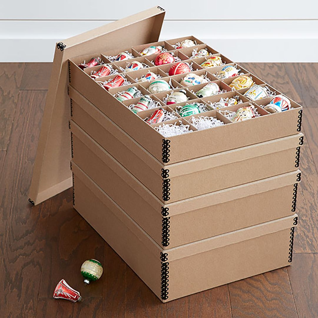 Safely Store Your Holiday Decorations With These 8 Essential Products Holiday Storage Ornament Storage Box Ornament Storage