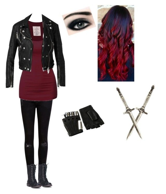shadowhunter outfit by tefy-so on Polyvore featuring Burberry, Ted Baker, DansSara, Pamela Love and Majesty Black