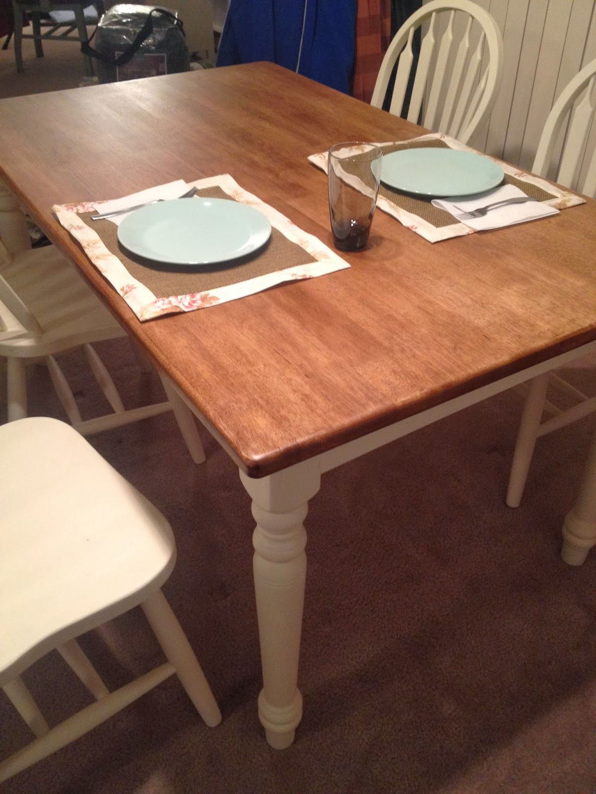 Charmant Annie Sloan Dark Wax To Stain Tabletop. The Daily Debut