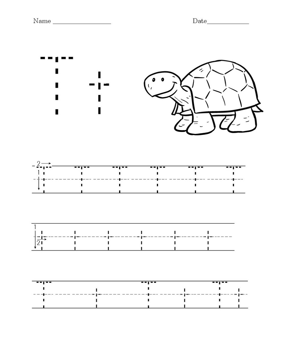 Worksheets Printable Tracing Letter T Worksheets Preschool Worksheets Kindergarten Worksheets [ 1200 x 933 Pixel ]