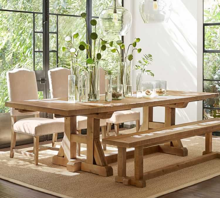 Stafford Reclaimed Wood Extending Dining Table Pottery Barn