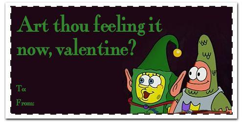 spongebob - Spongebob Valentine Cards