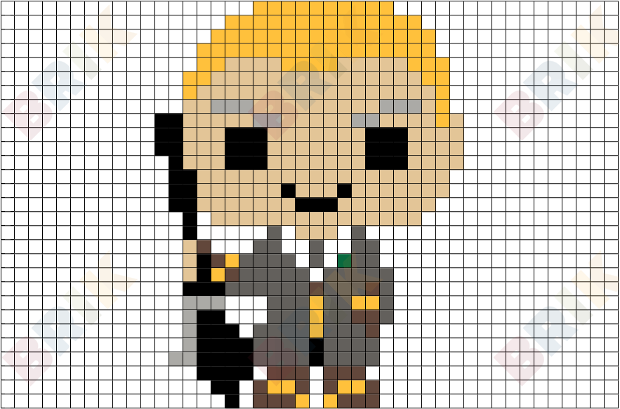 Draco Malfoy Pixel Art Pixel Art Cross Stitch Harry Potter Harry Potter Perler Beads