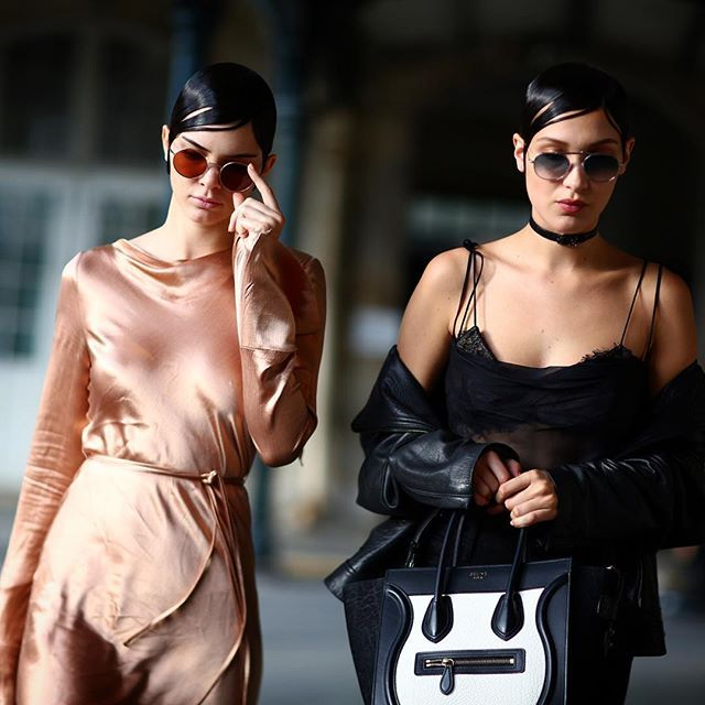 """""""Kendall Jenner and Bella Hadid leaving the Givenchy Menswear Fashion Show in Paris, France """""""