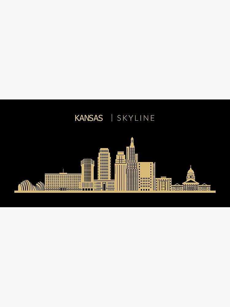 Kansas City Skyline Art Framed Print By Duxdesign Kansas City Skyline City Skyline Art City Skyline
