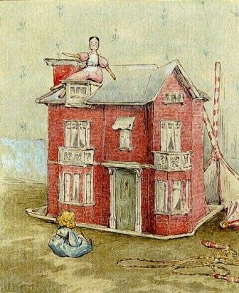 Miss potter 39 s drawing of a dolls 39 house for the tale of two bad mice sketchbook pinterest - The dollhouse from fairy tales to reality ...